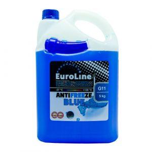 Антифриз Euroline G11 синий 5кг