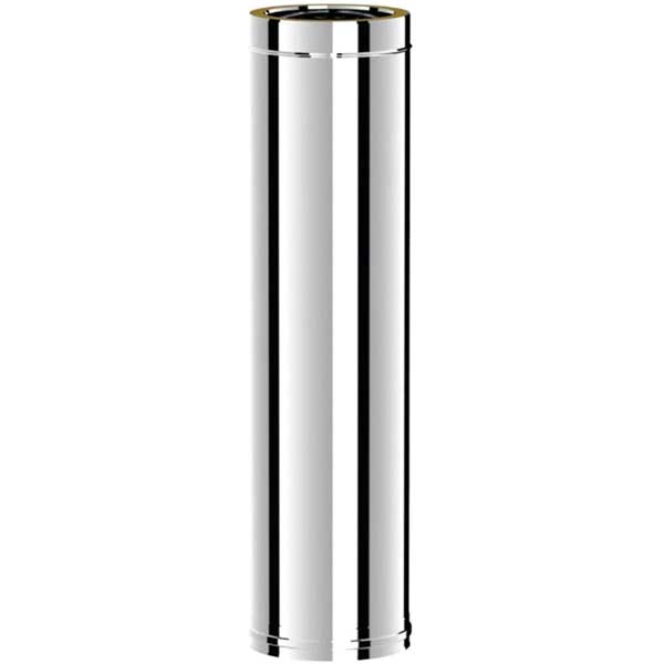 Вставка дымоходная  d115/215 мм Н=1000мм AISI304/430-0