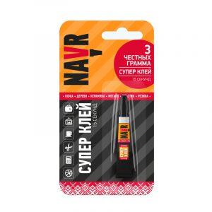 Супер клей NAVR 3 гр блистер