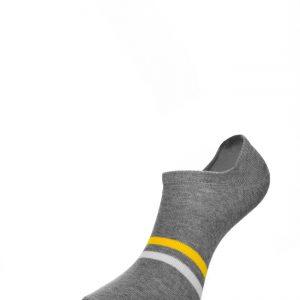 Носки мужские CHOBOT арт. 42-115 Цвет: Серый меланж-белый-жёлтый р-р 25-27